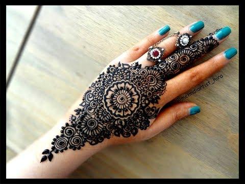 Mehndi Mandala Designs : How to apply beautiful latest arabic khaleeji mandala henna mehndi