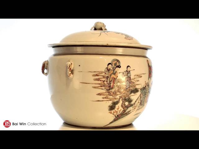 Qing Dynasty covered round Tureen serving dish