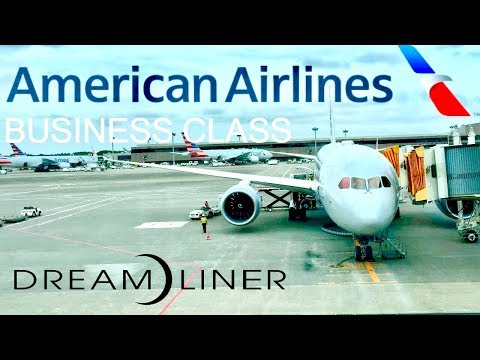 American Airlines Business Class Boeing 787-8 Dreamliner Tokyo to Chicago