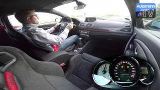 2015 Megane RS Trophy (275hp) - 0-220 km/h acceleration (60 fps)