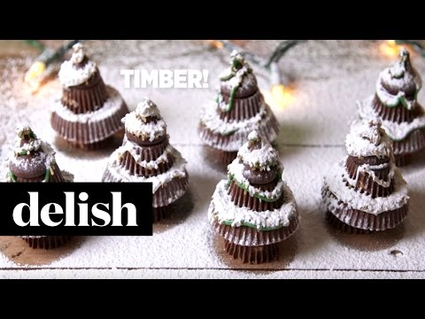 Holiday-Dessert-How-To-Reeses-Trees-Delish