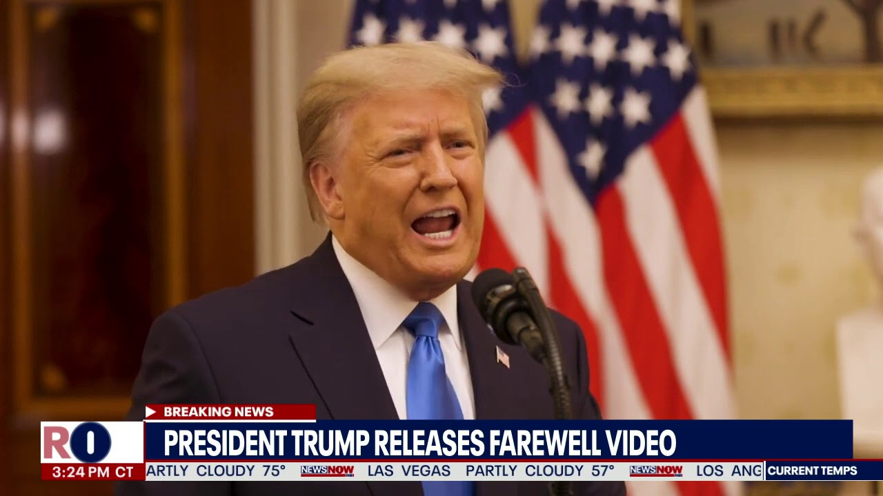 Watch President Trump's farewell speech from White House - YouTube