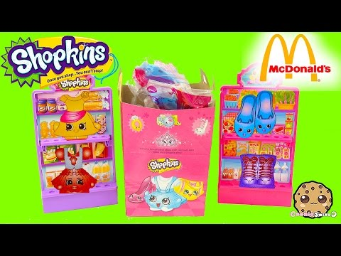 Unboxing 10 Mcdonalds Happy Meal Shopkins With 10 Surprise Blind Bags - Cookieswirlc