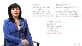 Решение тригонометрических уравнений. Урок №2