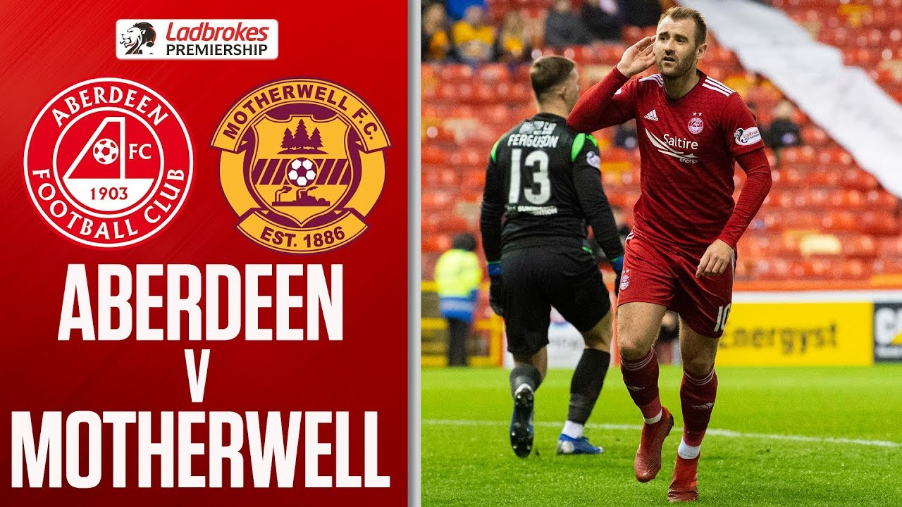 9523c2f8 Aberdeen 3-1 Motherwell | Top 6 Hopes Over for The Well After Defeat |  Ladbrokes Premiership