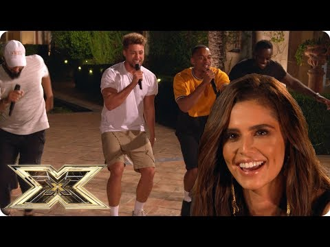 Rak-Su impresses Cheryl at Simon Cowell&39;s House  The X Factor UK
