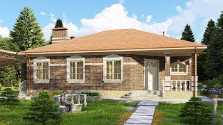 Проект одноэтажного дома 178 кв.м. | SketchUp + Lumion 8