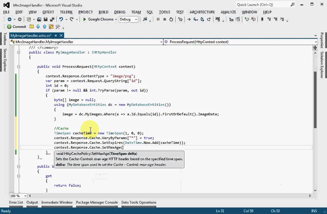 How to Display image from database using Generic Handler in ASP Net MVC4  application