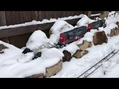 G Scale Snowplow (wedge plow flatcar) 1-14-2018