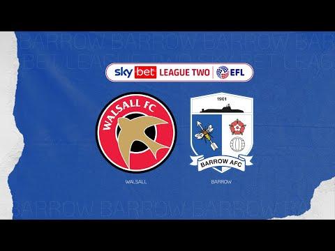 Walsall Barrow Goals And Highlights