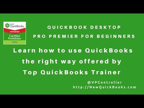 Quickbooks Desktop Pro Premier For Beginners