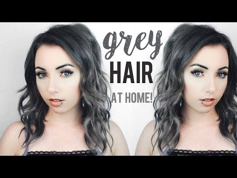 How to: Grey Hair Tutorial + Tape in Extensions At Home