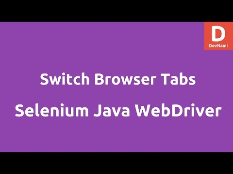Switch browser tabs using Selenium Java - YouTube