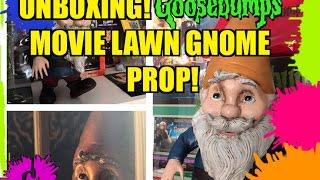 Unboxing! Goosebumps Movie Lawn Gnome Prop!