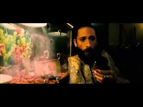 Adrien Brody talks to the frog