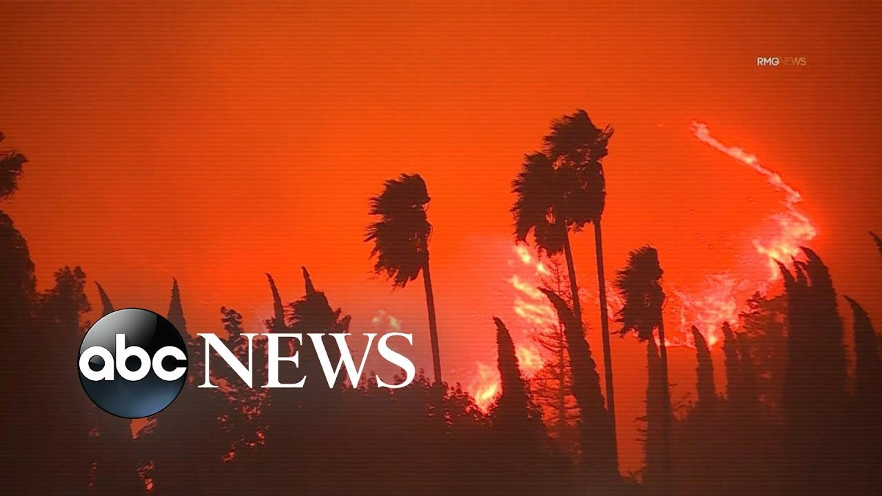Multiple fires break out across California l ABC News