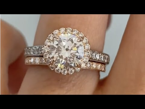 Maive Hammie Mixed Metal Engagement Ring With Matching Rose Gold Diamond Wedding Band Youtube