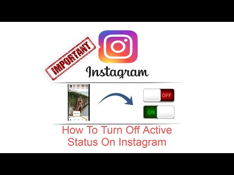 How To Turn Off Active Status On Instagram