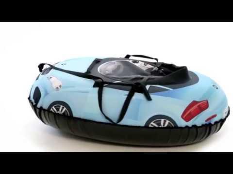 Надувные санки тюбинг машинка Small Rider Snow Cars 2 видеообзор