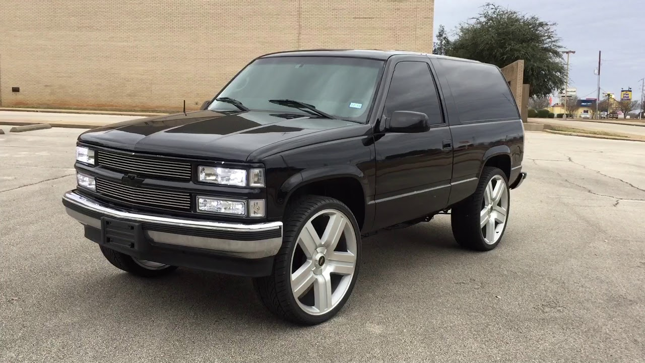 medium resolution of 2 door tahoe on 26s