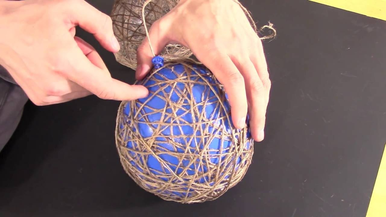 How To Make Wrapped Balloon Lamp Youtube