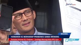 VIDEO: Pentolan Honorer K2: Prabowo – Sandiaga Menang Kalau KPU Jujur