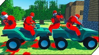 ПУШКИ DOOM и Деревня Minecraft - Игра Ravenfield для мальчиков. Битва солдатиков в РЕВЕНФИЛД