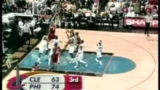 Lebron James 36 pts,11 reb,10 ast vs Allen Iverson 37 pts,12 ast,cavs vs 76ers 05/06