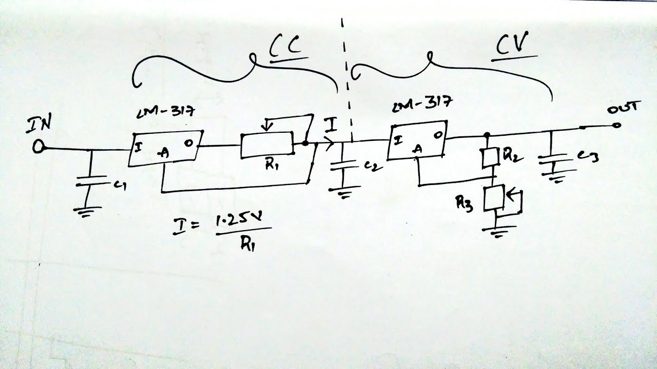 Variable Current And Voltage Using Lm317 Youtube Adjustable Regulator Circuit