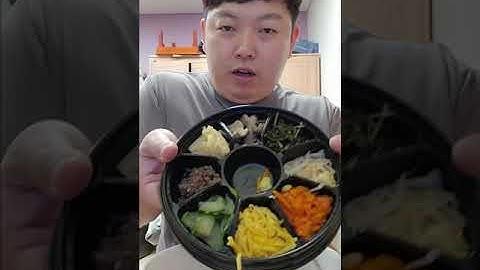 세븐일레븐 전주식비빔밥 편의점음식 먹방 #shorts