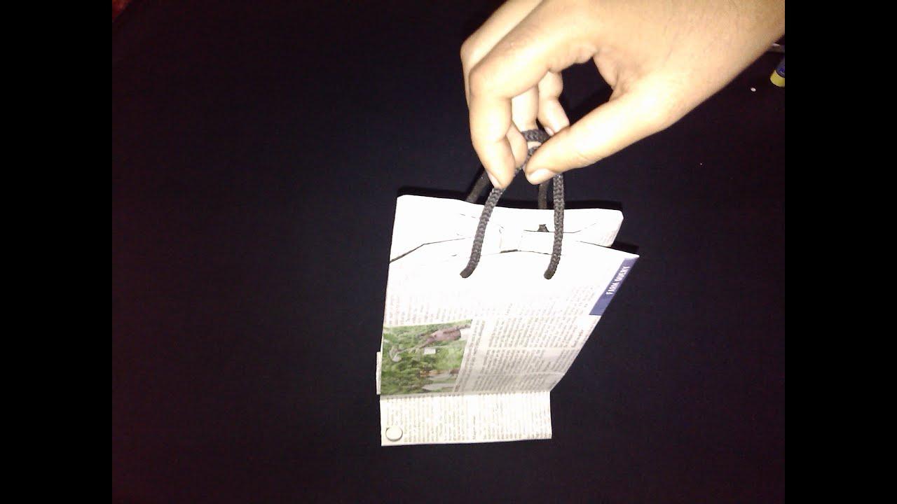 Newspaper Paper Bag - Paper Crafts - YouTube