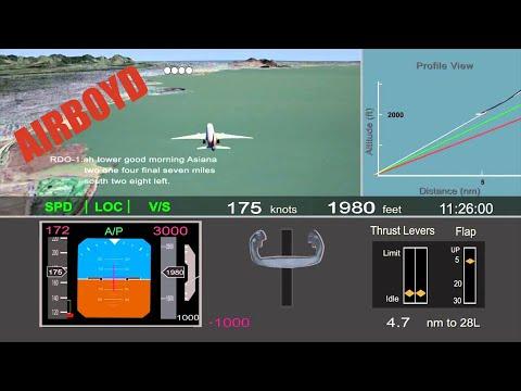 Asiana Flight 214 Crash NTSB Animation