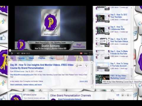Day 30 - How To Broadcast To 1000's Of Sites -FREE-Video Course By Brand Personalization