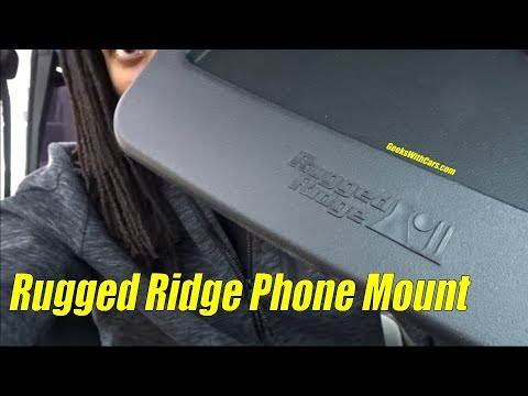 Rugged Ridge Dash Multi-Mount Phone Kit Install | Jeep Wrangler Unlimited 2010