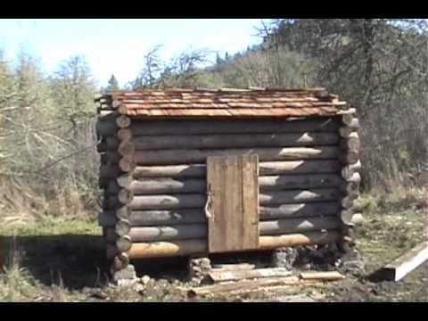 Trappers log cabin at the living history school tour youtube for Small survival cabin