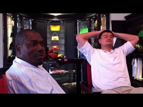 Yao Ming And Hakeem Olajuwon Talking Basketball Part 2