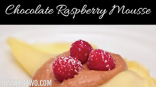 Raspberry Chocolate Mousse Filling