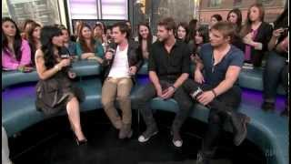 Josh Hutcherson, Liam Hemsworth and Alexander Ludwig on NML 1/3 Mar...