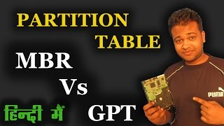 What Is Hard-Disk Partition Tables - MBR Vs GPT In Hindi