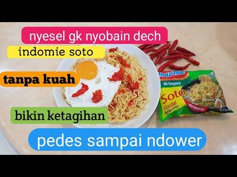 Indomie Soto Tanpa Kuah, Pedas