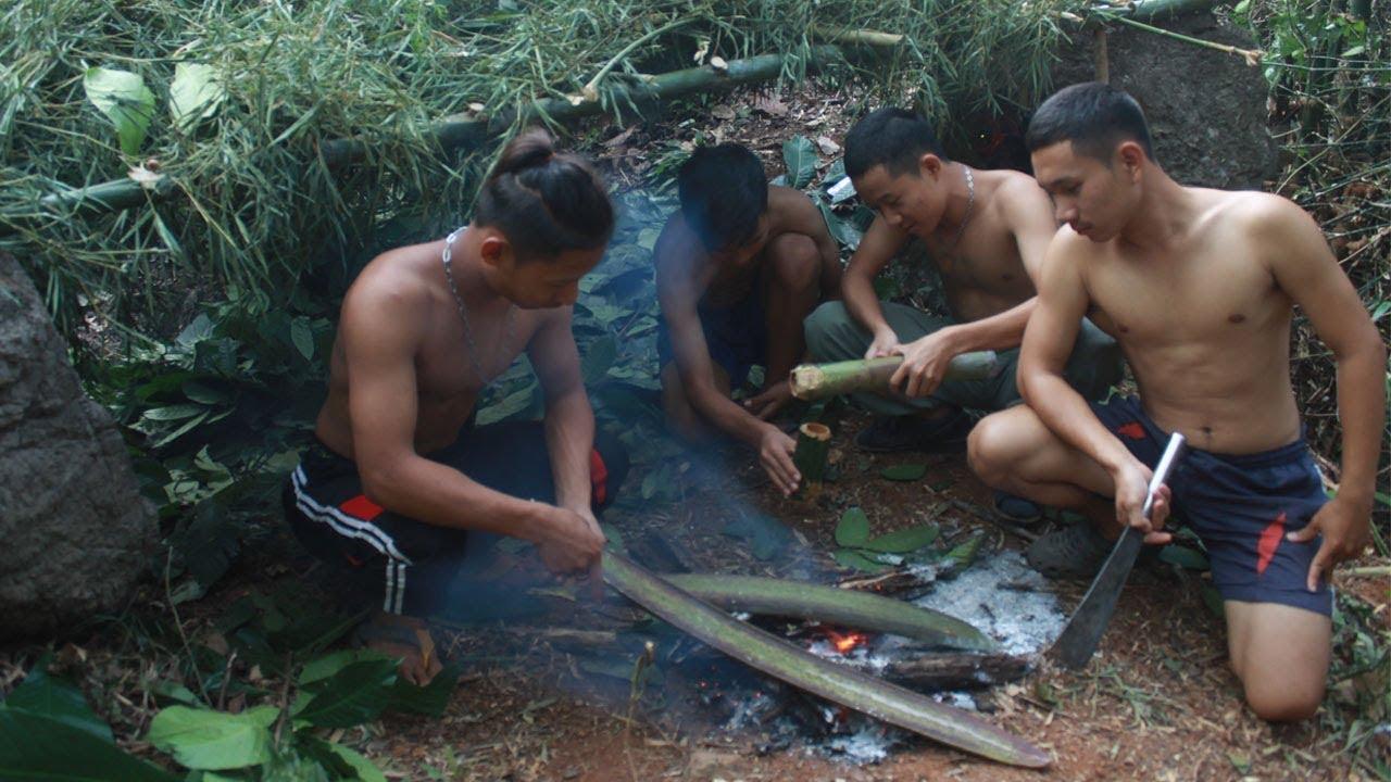 เข้าป่าลึกสร้างที่พัก เอาชีวิตรอด 24 ชม.ด้วยมีดเล่มเดียว แถมเจอคนป่า อันตราย !!!