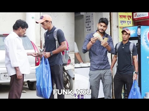 500 - 1000 Rupee Notes sold in Trash Prank by Funk You
