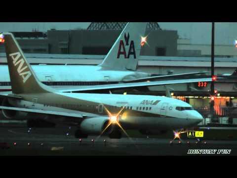 Take off Gold jet JA02AN Air Nippon NRT 16R