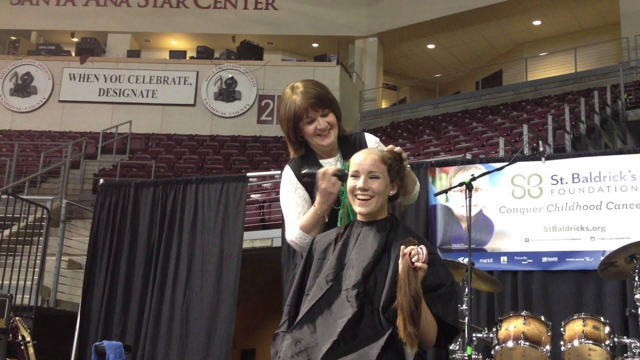Shea getting her head shaved @ 2013 NM Firefighters St ...