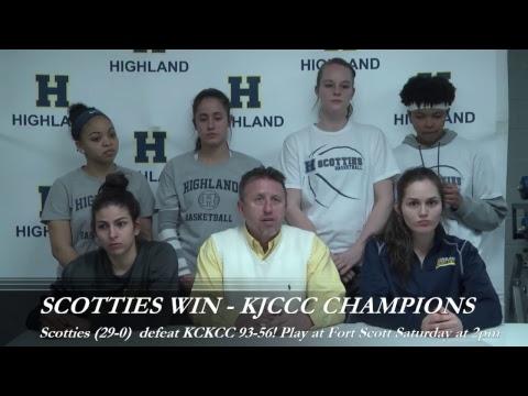 Post Game- Highland Women's Basketball vs. Kansas City Kansas CC