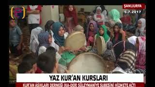 2017 Kur'an Aşıkları Derneği (KA-DER) Süleymaniye Şb.Açılışı Edessa TV haber