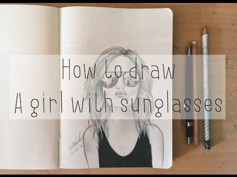 How to draw a girl with sunglasses tumblr |Drawicorn - YouTube