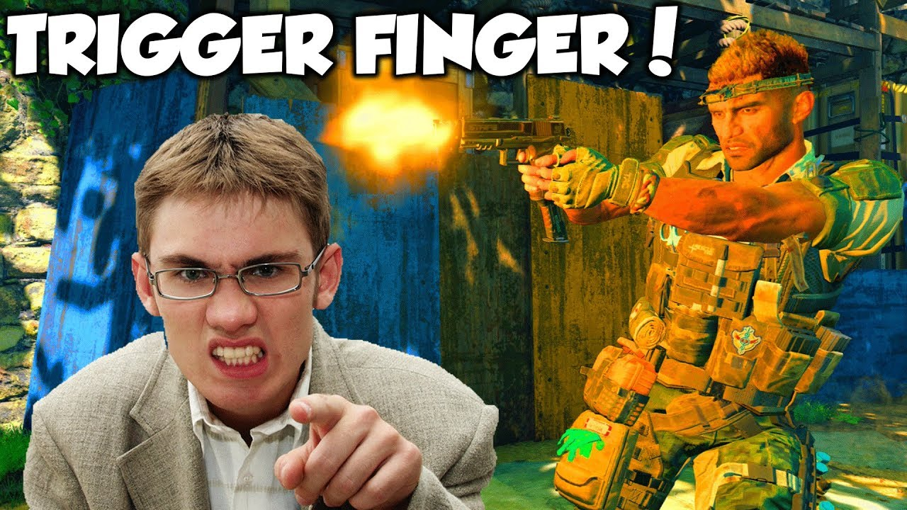 TRIGGER FINGER against ANGRY GAMERS! - (Black Ops 4 Funny Moments & Reactions!)