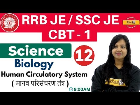 Class-12 ||#RRB JE/SSC JE/CBT-1 || Science || Biology| By Amrita Ma'am || Human Circulatory System