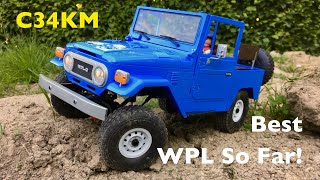 Crushed WPL C34KM Toyota FJ40 Land Cruiser: First Test With A Stronger Motor